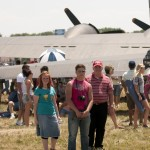 The Grimes standing behind the b17